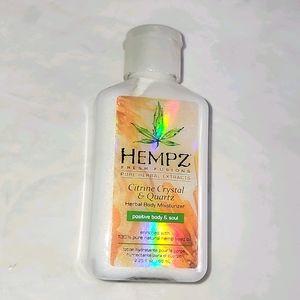 New HEMPZ Citrine Crystal & Quartz Herbal Body
